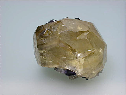Calcite with Fluorite, Sub-Rosiclare Level, Bahama Pod, Denton Mine, Ozark-Mahoning Company, Harris Creek District, Southern Illinois, Mined c. 1993, Tolonen Collection, Small Cabinet 4.5 x 5.0 x 6.0 cm, $250.  Online 1/18.  SOLD.