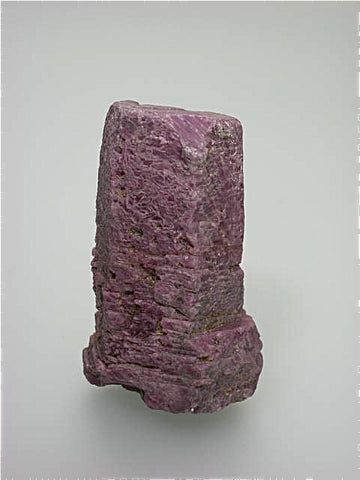 Corundum variety Ruby, Karnataka (Mysore) Province India, Collected ca. 1998, Kalaskie Collection #199, Small Cabinet 3.5 x 5.0 x 8.0 cm, $450. Online 12/15.