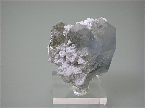 Celestite with Quartz, Salem, Indiana, Collected c. 1980s, Kalaskie Collection #643, Miniature 3.5 x 4.7 x 5.0 cm, $125. Online 1/14
