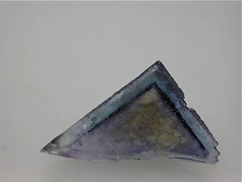 Fluorite, Rosiclare Level Minerva #1 Mine, Ozark-Mahoning Company, Cave-in-Rock District, Southern Illinois, Mined c. 1992 - 1993, Tolonen Collection, Miniature 3.4 x 3.8 x 4.8 cm, $125.  Online 3/18. SOLD.