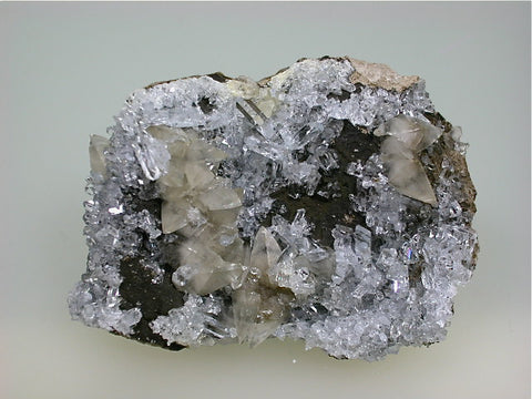 Celestite and Calcite, Scofield Quarry, Maybee, Michigan Miniature 1.5 x 4 x 6 cm $15. Online 10/27