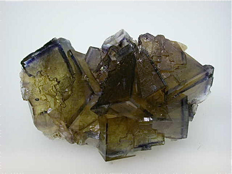 Fluorite, Rosiclare Level Minerva #1 Mine, Ozark-Mahoning Company, Cave-in-Rock District, Southern Illinois, Mined c. 1992-1993, Tolonen Collection, Small Cabinet 3.5 x 6.0 x 9.0 cm, $450.  SOLD