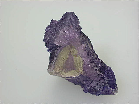 SOLD Fluorite, Elmwood Complex, Carthage, Smith County, Tennessee, Mined c. 1984, Kalaskie Collection #42-93, Miniature 2.3 x 3.7 x 3.7 cm, $250.  Online 11/9.
