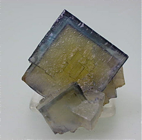 Fluorite, Bethel Level Minerva #1 Mine, Ozark-Mahoning Company, Cave-in-Rock District, Southern Illinois, Mined c. 1995, Tolonen Collection, Miniature 2.3 x 3.8 x 4.0 cm, $450.  Online 1/13 SOLD.