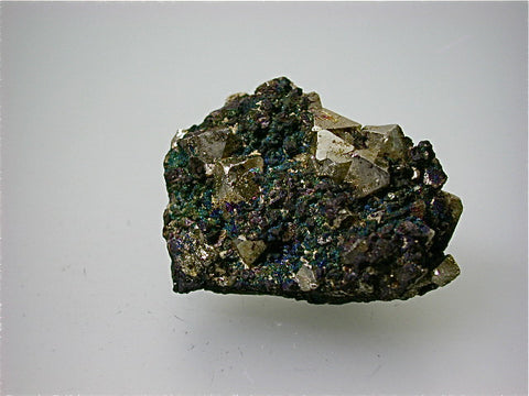 Enargite on Pyrite, 3200 Level, Stewart Mine, Butte District, Silver Bow County, Montana 2 x 2.5 x 3.5 cm $25. online August 1 SOLD