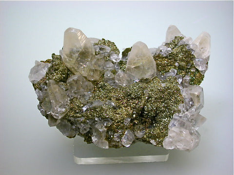 Calcite with Pyrite and Marcasite, Linwood Mine near Davenport (Buffalo), Scott County, Iowa, Collected ca. 2012, Kalaskie Collection #69, Small Cabinet 5.0 x 6.5 x 9.5 cm, $150.  Online 2/27