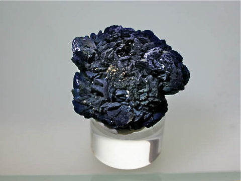 Azurite, Big Indian Mine, La Sal, Utah, Mined c. 1991, Kalaskie Collection #795, Miniature 2.2 x 3.3 x 4.0 cm, $200.  Online 11/9.