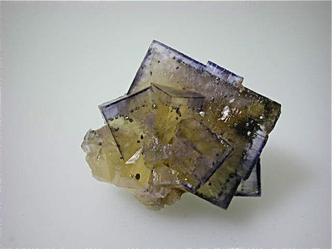 Fluorite with Chalcopyrite, Sub-Rosiclare Level Annabel Lee Mine, Ozark-Mahoning Company, Harris Creek District, Southern Illinois, Mined ca. 1986-1988, Koster Collection #00443, Miniature 3.5 x 5.5 x 7.0 cm, $85. Online 03/07.  SOLD.