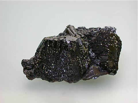 Sphalerite with Chalcopyrite, Sub-Rosiclare Level Deardorff Mine, Ozark-Mahoning Company, Cave-in-Rock District Southern Illinois, Mined ca. 1950s - 1960s, Noll Collection #CN5053, Small Cabinet 3.5 x 6.0 x 10.5 cm, $350. Online 07/11 SOLD.