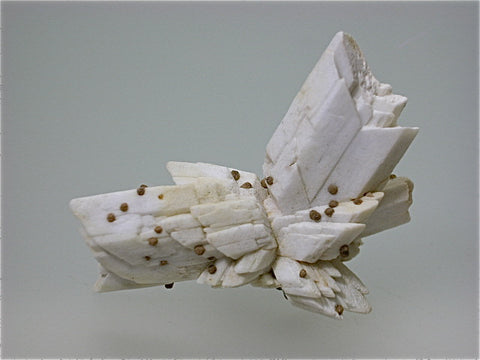 Calcite Pseudomorph after Selenite, Cavnic, Romania, Mined c. early 1980s, Kalaskie Collection #458, Miniature 3.0 x 4.0 x 5.0 cm, $250.  Online 1/14