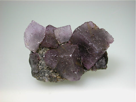 Fluorite on Quartz, Hill-Ledford Mine, Ozark-Mahoning Company, Cave-in-Rock District Southern Illinois, Mined ca. 1960s, Fowler Collection, Small Cabinet 5.0 x 6.5 x 11.0 cm, $125. Online 07/11. SOLD