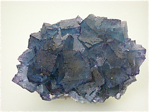 Fluorite, Cadiz ('St. Louis') Level Annabel Lee Mine, Ozark-Mahoning Company, Harris Creek District, Southern Illinois, Mined 1989, Kalaskie Collection #42-130, Small Cabinet 5.0 x 8.0 x 11.5 cm, $500.  Online 3/1.