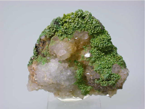 Pyromorphite on Quartz, Chester County Mine, Phoenixville, Pennsylvania Miniature 1.4 x 4 x 4.5 cm $45. Online 11/29