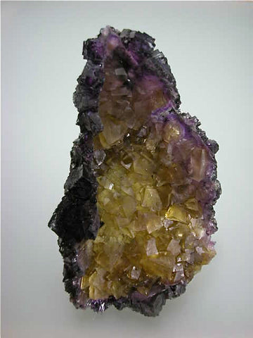 Fluorite, Rosiclare Level Cross-Cut Orebody, Minerva #1 Mine, Ozark-Mahoning Company, Cave-in-Rock District, Southern Illinois, Mined ca. 1990, Koster Collection, Medium Cabinet 3.5 x 7.5 x 13.0 cm, $1200. Online 3/18. SOLD