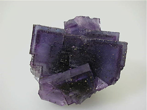Fluorite, Bahama Orebody, Denton Mine, Ozark-Mahoning Company, Harris Creek District, Southern Illinois, Mined c. 1992-1993,  Medium Cabinet 7.0 x 9.0 x 10.0 cm, $90.  Online 3/18. SOLD.