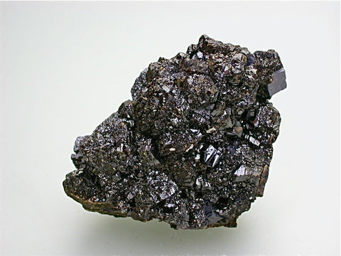 Sphalerite and Galena, Deardorff Mine attr., Ozark-Mahoning Company, Cave-in-Rock District, Southern Illinois, Mined ca. 1950s - 1960s, Fowler Collection, Small Cabinet 4.5 x 5.5 x 9.0 cm, $45. Online 7/19. SOLD