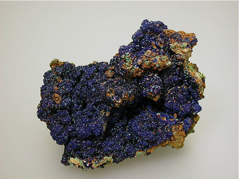 Azurite, Concepcion del Oro, Zacatecas, Mexico, Mined c. 1970s, Kalaskie Collection #75, Small Cabinet 6.5 x 8.0 x 10.0 cm, $350. ONline 11/3