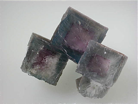 Fluorite, Gaskins Mine, Minerva Oil Company, Pope County, Southern Illinois, Mined c. 1970's, Tolonen Collection, Miniature 2.5 x 4.0 x 5.5 cm $250.  Online 1/15. SOLD.