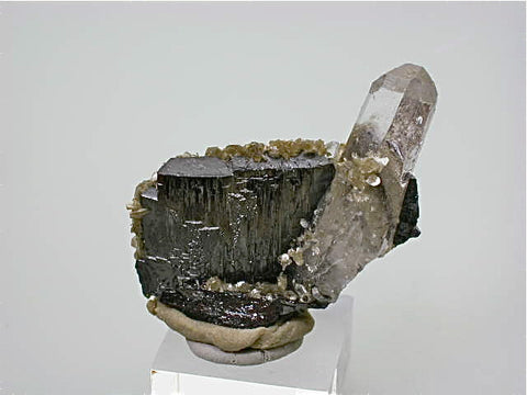 Wolframite and Quartz, Panasqueira, Portugal, Mined c. 1970s, ex. Gary Hanson Collection, Kalaskie Collection #249, Miniature 2.0 x 4.2 x 4.2 cm, $220.  Online 11/9.
