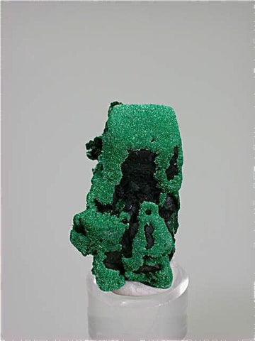 Malachite on and after Azurite, New Cornelia Mine, Ajo, Arizona Miniature 2 x 2.5 x 4.3 cm $250. Online 12/1