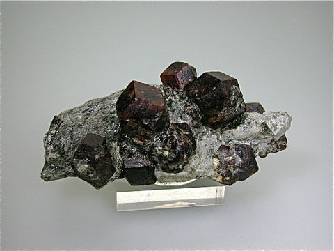 Almandine in Schist, Obergurgl, Otz Valley, Tyrol, Austria, Collected c. late 1970s, Kalaskie Collection #9, Small Cabinet 4.5 x 5.5 x 12 cm, $200. Online 11/3