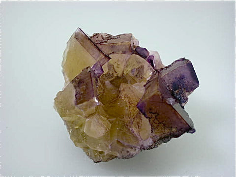 Fluorite (etched), Rosiclare Level, Cross-Cut Orebody, Minerva #1 Mine, Ozark-Mahoning Company, Cave-in-Rock District, Southern Illinois, Mined ca. 1991-1993, Koster Collection #00644, Miniature 4.5 x 6.0 x 6.5 cm, $150. Online 03/07. SOLD.
