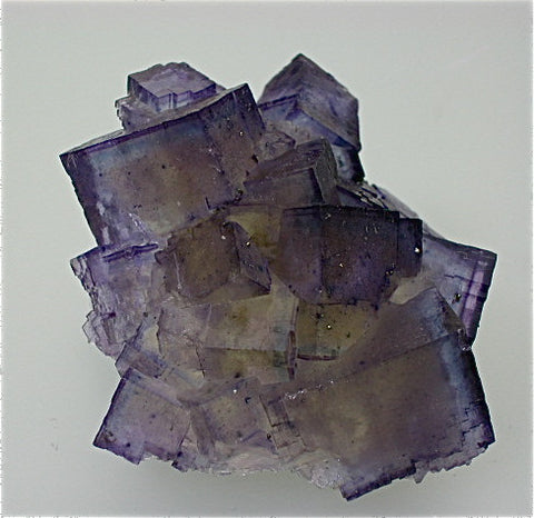 Fluorite, Annabel Lee Mine, Ozark-Mahoning Mining Company, Harris Creek District, S. Illinois, Mined March 1988, Kalaskie Collection #42-52, Miniature 2.0 x 4.8 x 6.0 cm, $280. Online 1/12.