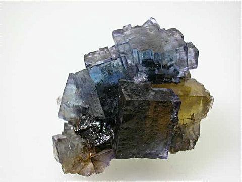 Fluorite and Sphalerite, Rosiclare Level, Minerva #1 Mine, Ozark-Mahoning Company, Cave-in-Rock District, Southern Illinois, Mined c. early 1990's, Tolonen Collection, Miniature 3.5 x 4.0 x 5.5 cm $250. Online 1/15 SOLD.