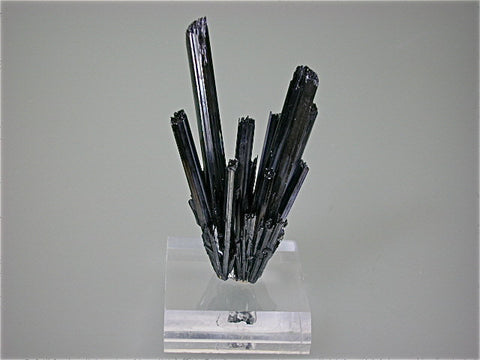 Stibnite, Baia Sprie, Maramures, Romania, Mined ca. 1970s, Kalaskie Collection #855, Small Cabinet 3.0 x 4.5 x 7.9 cm, $450. Online 1/12.