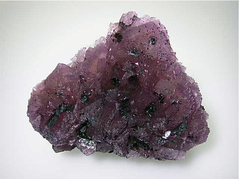 Fluorite with Hydrocarbons, Rosicare District, attr. Fairview Mine, ALCOA, Rosiclare, Illinois Medium/large cabinet 5.5 x 13 x 16 cm $450.  Online 3/18. SOLD