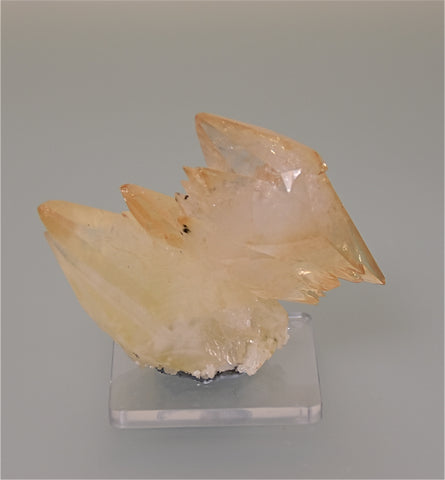 Calcite, Elmwood Complex, Smith County, Tennessee, Mined ca. 1984,  Kalaskie Collection #409, Small Cabinet 3.5 x 6.5 x 7.0 cm, $65.  Online 3/9