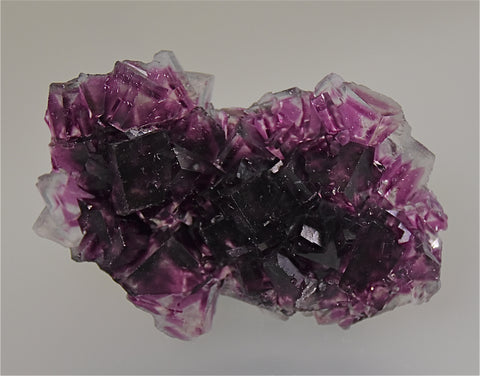 Fluorite, Okaruso Mine, Otijwarongo, Namibia, Mined ca. 2007, Kalaskie Collection #42-245, Miniature 1.4 x 4.5 x 7.5 cm, $250.  Online 4/3