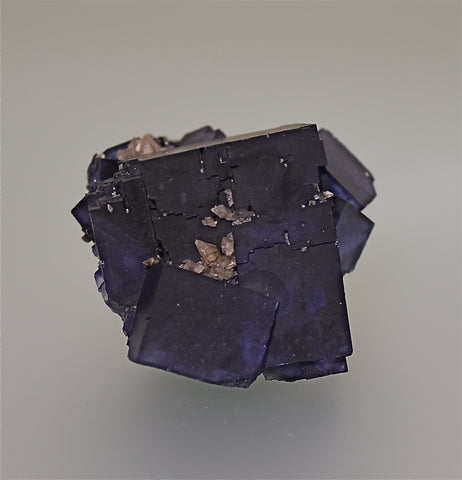 SOLD Fluorite, Sub-Rosiclare Level Annabel Lee Mine, Ozark-Mahoning Company, Harris Creek District, Southern Illinois, Mined ca. late 1980s, Holzner Collection, Miniature 5.0 x 5.5 x 6.0 cm, $250.  Online 4/30.