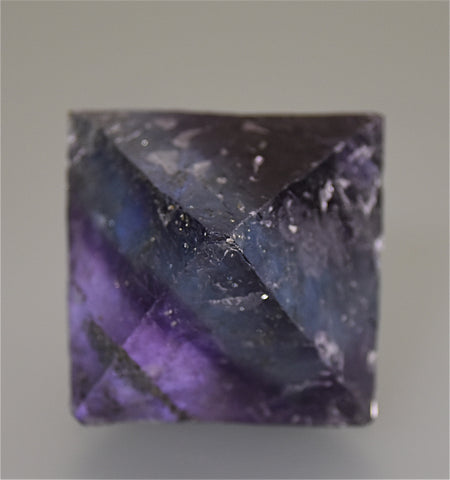 Fluorite Octahedron with Chalcopyrite Inclusions, attr. Bahama Pod Denton Mine, Ozark-Mahoning Company, Harris Creek District Southern Illinois, Kalaskie Collection #42-299, Small Cabinet 4.5 cm on edge, $125.  Online 4/3