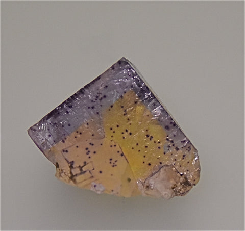 Fluorite, Rosiclare Level South-End Denton Mine, Ozark-Mahoning Company, Harris Creek District, Southern Illinois, Mined ca. 1981, Holzner Collection #803, Miniature 3.3 x 3.3 x 4.3 cm, $150. Online 5/1