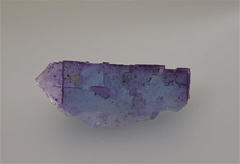 Fluorite with Calcite, attr. Sub-Rosiclare Level Annabel Lee Mine, Ozark-Mahoning Company, Harris Creek District, Southern Illinois, Mined ca. late 1980s, Holzner Collection #872, Miniature 2.5 x 3.5 x 8.5 cm, $200.  Online 5/1