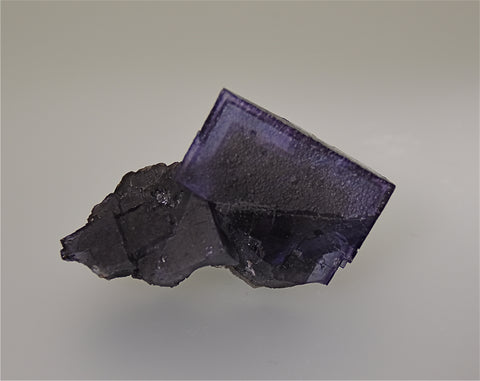 SOLD Fluorite, Sub-Rosiclare Level Annabel Lee Mine, Ozark-Mahoning Company, Harris Creek District, Southern Illinois, Mined ca. late 1980s, Holzner Collection, Small Cabinet 3.5 x 6.5 x 10.0 cm, $125. Online 5/1