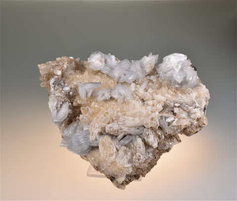 Barite and Calcite, attr. Rosiclare Level, attr. Crystal/Victory Complex, attr. Minerva Oil Company, attr. Spar Mountain Area, Cave-in-Rock District, Southern Illinois Medium cabinet 4 x 9 x 12 cm $125. Online 6/28