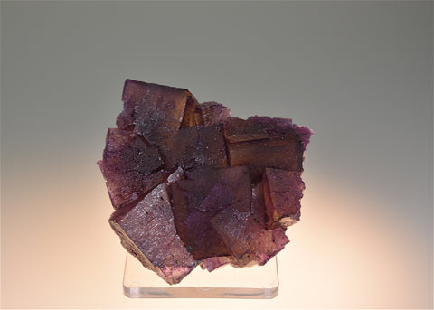 SOLD Fluorite, Rosiclare Level, Denton Mine, Ozark-Mahoning Company, Harris Creek District, Southern Illinois, Small Cabinet, 3.0 x 6.0 x 6.5 $125. Online 6/27