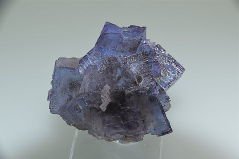 Fluorite, Sub-Rosiclare Level, Annabel Lee Mine, Ozark-Mahoning Company, Harris Creek District, Southern Illinois, Mined ca. 1988,  Holzner Collection, Miniature, 4.0 x 4.5 x 5.5 cm, $200.  Online 6/6.