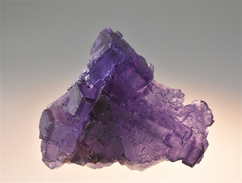 SOLD Fluorite, Sub-Rosiclare Level Annabel Lee Mine, Ozark-Mahoning Company, Harris Creek District, Southern Illinois, Mined c. late 1980's, Holzner Collection, Small Cabinet 4.0 x 6.5 x 8.0 cm, $125. Online 6/27