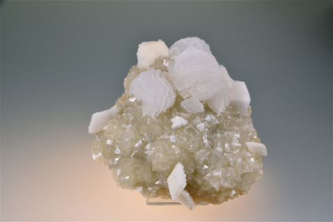 Calcite on Dolomite, Gheturi Mine, Turt Province, Maramures, Romania Medium cabinet 4.5 x 10.5 x 10.5 cm $350. Online 7/21