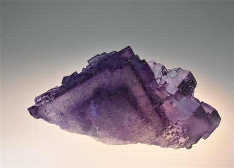 SOLD Fluorite, Sub-Rosiclare Level Annabel Lee Mine, Ozark-Mahoning Company, Harris Creek District, Southern Illinois, Mined c. late 1980's, Holzner Collection, Small Cabinet 5.5 x 7.5 x 11.0 cm, $250. Online 6/27