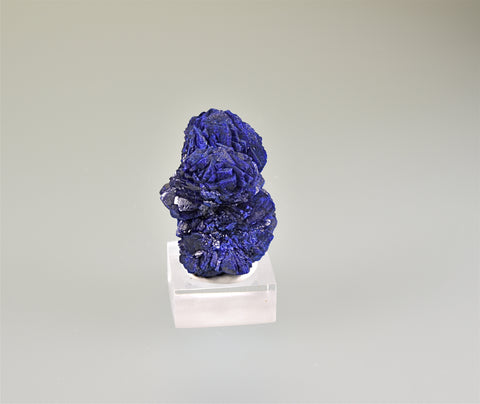 Azurite, Morenci District, Greenlee County, Arizona, Holzner Collection #C-231, Miniature 2.7 x 3.0 x 4.0 cm, $125. Online 8/12