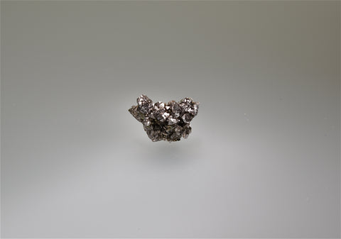 Siegenite, Sweetwater Mine, Viburnum Trend, Missouri, Collected c. 1990's, Ralph Campbell Collection, Miniature 1.0 x 1.7 x 3.0 cm, $75. Online 10/4.