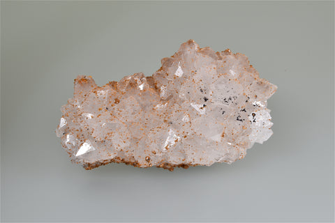 Smithsonite on Quartz, Monte Cristo Mine, Rush District, Marion County, Arkansas, Collected 1967, Dr. H. Perry & Anne Bynum Collection, Small Cabinet 2.0 x 6.0 x 11.0 cm, $250.  Online 10/6.