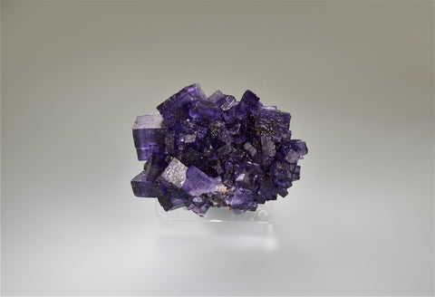 Fluorite, Sub-Rosiclare Level, Bahama Pod, Denton Mine, Ozark-Mahoning Company, Harris Creek District, Southern Illinois, Mined March 1992, Kalaskie Collection #42-201, Miniature 3.5 x 5.0 x 7.0 cm, $125.  Online 11/6.