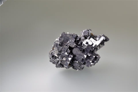 Galena with Sphalerite, Mogila Mine, Deveti Septemvri Complex, Madan District, Southern Rhodope Mountains, Bulgaria, Mined c. 1970's, Miniature 4.0 x 5.0 x 7.8 cm, $300. Online 3/9