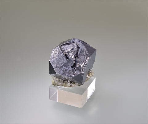 Galena with Quartz, Gjudurska Mine, Madan District, Smolyan Oblast, Southern Rhodope Mountains, Bulgaria, Mined 2009, Miniature 2.5 x 3.0 x 3.0 cm, $50.  Online 3/5.