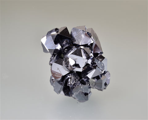 Galena, Block 18 Level 734, Gjudurska Mine, Madan District, Smolyan Oblast, Southern Rhodope Mountains, Bulgaria, Mined November 18-21, 2009, Miniature 4.0 x 4.0 x 5.0 cm, $250.  Online 3/5.